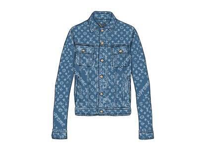Supreme x Louis Vuitton Jacquard Denim Trucker Jacket Blue (SS17)の写真