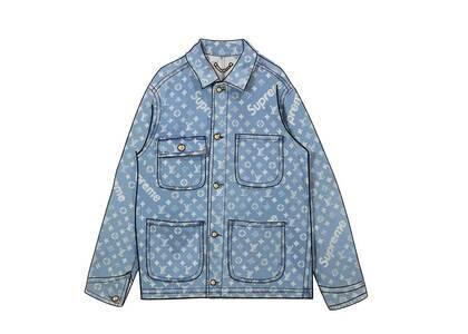 Supreme x Louis Vuitton Jacquard Denim Chore Coat Blue (SS17)の写真