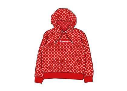 Supreme x Louis Vuitton Box Logo Hooded Sweatshirt Red (SS17)の写真