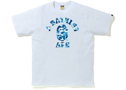 Bape ABC Camo College Tee White/Blue (SS21)の写真
