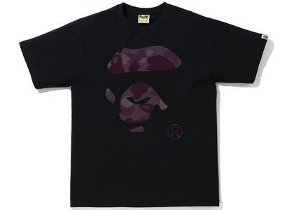 Bape Color Camo Ape Face Tee Black/Burgundy (SS21)の写真