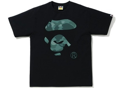 Bape Color Camo Ape Face Tee Black/Green (SS21)の写真