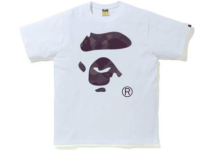 Bape Color Camo Ape Face Tee White/Burgundy (SS21)の写真
