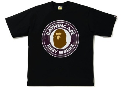 Bape Color Camo Busy Works Relaxed Fit Tee Black/Burgundy (SS21)の写真