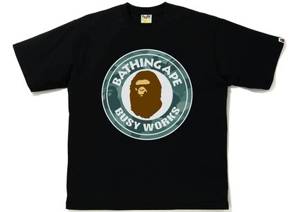 Bape Color Camo Busy Works Relaxed Fit Tee Black/Green (SS21)の写真