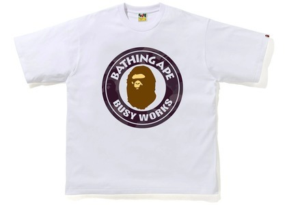 Bape Color Camo Busy Works Relaxed Fit Tee White/Burgundy (SS21)の写真