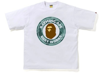 Bape Color Camo Busy Works Relaxed Fit Tee White/Green (SS21)の写真