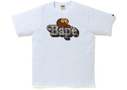 Bape Color Camo Milo on Bape Tee White/Gray (SS21)の写真