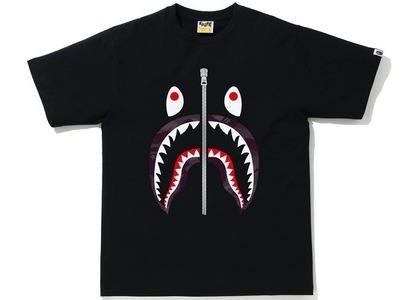 Bape Color Camo Shark Tee Black/Burgundy (SS21)の写真