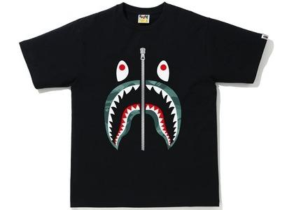 Bape Color Camo Shark Tee Black/Green (SS21)の写真