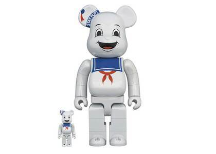 Be@rbrick Stay Puft Marshmallow Man White Chrome Ver 100% & 400%の写真