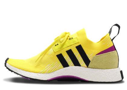 adidas NMD Racer Solar Yellow Shock Purpleの写真