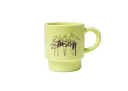 Stussy 3 People Stacking Mug Lime (SS21)の写真