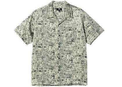Stussy Croc Pattern Silk Shirt Tan (SS21)の写真