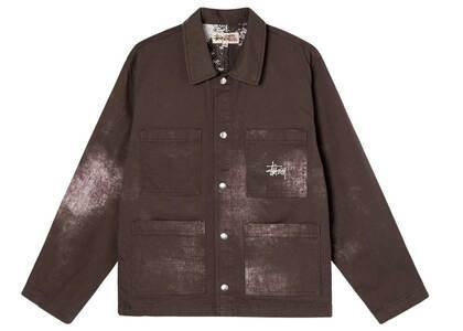 Stussy Spotted Bleach Chore Jacket Brown (SS21)の写真