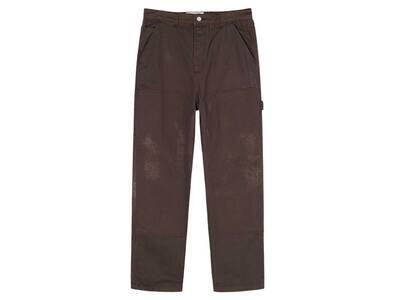 Stussy Spotted Bleach Work Pant Brown (SS21)の写真