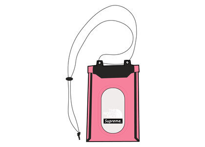 Supreme × The North Face Summit Series Outer Tape Seam Neck Pouch Pink (SS21)の写真