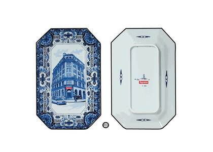 Supreme Royal Delft Hand-Painted 190 Bowery Large Plate Bule (SS21)の写真