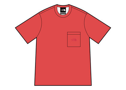 Supreme × The North Face Pigment Printed Pocket Tee Red (SS21)の写真