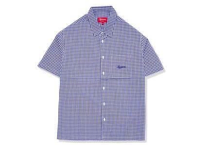 Supreme Gingham S/S Shirt Navy (SS21)の写真