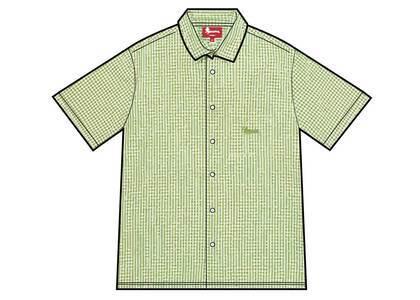 Supreme Gingham S/S Shirt Lime (SS21)の写真