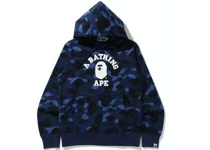 BAPE Color Camo College Pullover Hoodie Blue (SS21)の写真