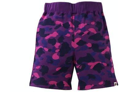 BAPE Color Camo Sweat Shorts Purple (SS21)の写真