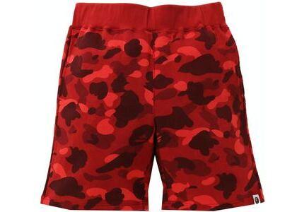 BAPE Color Camo Sweat Shorts Red (SS21)の写真