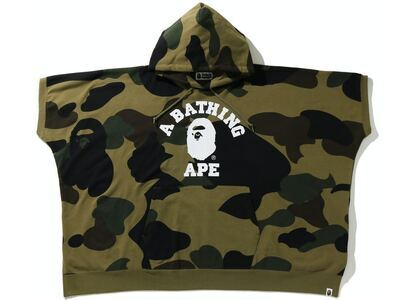 BAPE 1st Camo College Poncho Pullover Hoodie Green (SS21)の写真