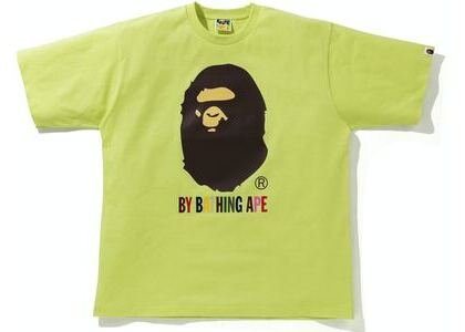 BAPE Colors Relaxed Fit Tee Yellow (SS21)の写真