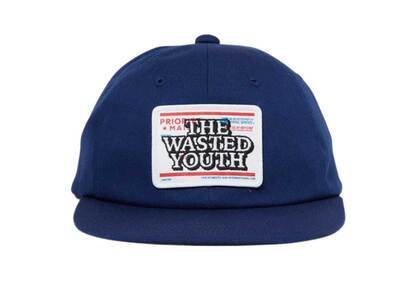 The Black Eye Patch  × Wasted Youth Priority Label 6 Panel Cap Navy (SS21)の写真