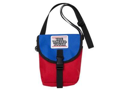 The Black Eye Patch  × Wasted Youth Priority Label Shoulder Bag Blue, Red (SS21)の写真