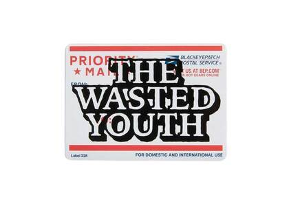 The Black Eye Patch  × Wasted Youth Priority Label Sticker (SS21)の写真