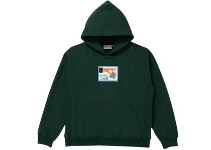 The Black Eye Patch Label Caution Hoodie D.Green (SS21)の写真