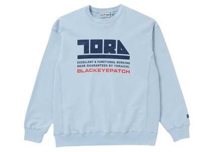 The Black Eye Patch Toraichi CrewSweat Light Blue (SS21)の写真
