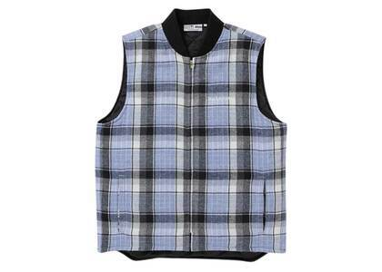 The Black Eye Patch Checked Puff Vest Blue (SS21)の写真
