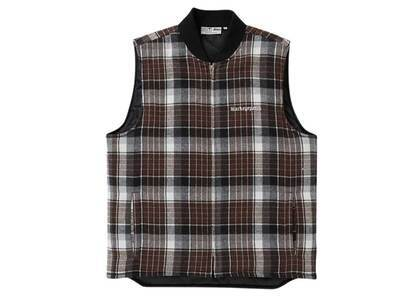 The Black Eye Patch Checked Puff Vest Brown (SS21)の写真