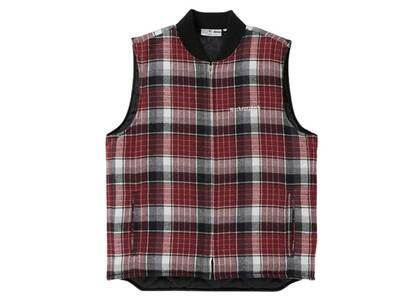 The Black Eye Patch Checked Puff Vest Red (SS21)の写真
