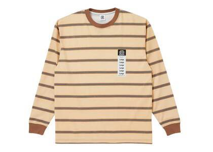 The Black Eye Patch Size Label Bordered L/S Tee Beige (SS21)の写真