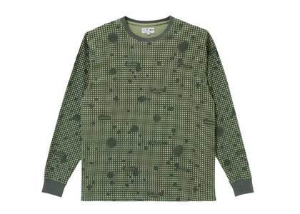 The Black Eye Patch Spray Night Camo Thermal L/S Tee Olive (SS21)の写真