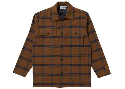 The Black Eye Patch Shaggy Checked Shirt Jacket Brown (SS21)の写真