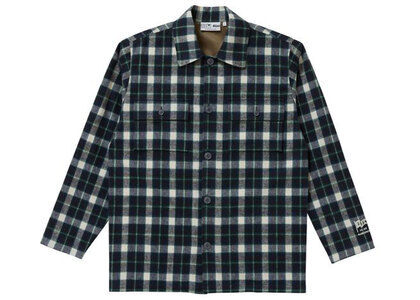 The Black Eye Patch Shaggy Checked Shirt Jacket Navy (SS21)の写真