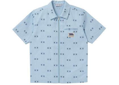 The Black Eye Patch Toraichi Zip Work Shirt Light Blue (SS21)の写真