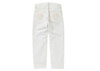 The Black Eye Patch Kamon Jeans White (SS21)の写真