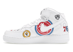 SUPREME × NBA × NIKE AIR FORCE 1 MID 2018 WHITE