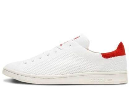 adidas Stan Smith Primeknit White Redの写真