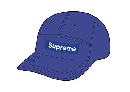 Supreme Leather Camp Cap Blue (SS21)の写真