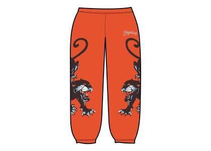Supreme Panther Sweatpant Orange (SS21)の写真