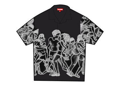 Supreme Dancing Rayon S/S Shirt Black (SS21)の写真