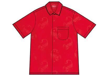Supreme Scorpion Jacquard S/S Shirt Red (SS21)の写真